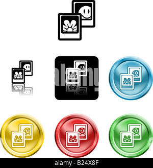 Several versions of an icon symbol of stylised photos - Stock Photo