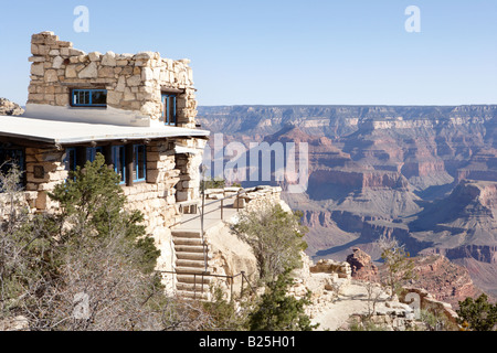 Lookout Studio at Grand Canyon Village in Arizona USA - Stock Photo