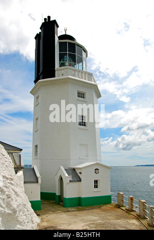 st.anthony head lighthouse, st.just in roseland, cornwall, uk - Stock Photo