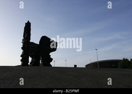 The monument of the Silesian Insurgents in Katowice. - Stock Photo