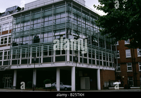 The main entrance of the Royal Marsden Hospital, Dove House Street, London UK - Stock Photo