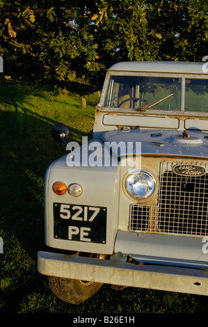 Historic 1963 Landrover Series 2a truckcab in very original and full working condition on a farm in Dunsfold, UK - Stock Photo
