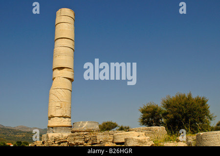 Heraion archaeological site, Hera Temple, Samos, Greece - Stock Photo