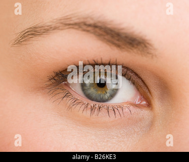 Extreme close up of woman's eye - Stock Photo
