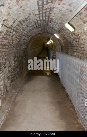 Underground tunnel at the Crumlin Road Gaol - links the gaol with the courthouse on the opposite side of the road - Stock Photo