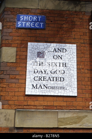 Short Street Manchester England UK mosaic and ceramic street signs early 2000s - Stock Photo