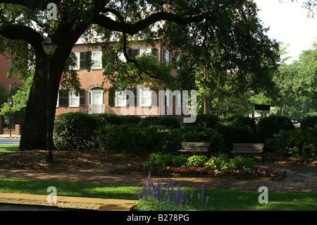 Davenport House  Museum 1820 Savannah, Georgia - Stock Photo