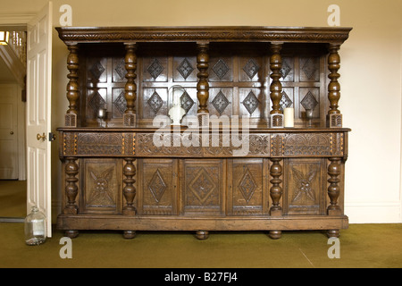 sideboard at The Old Rectory in Epworth, UK, home of the Wesley family - Stock Photo