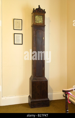 clock at The Old Rectory in Epworth, UK, home of the Wesley family - Stock Photo