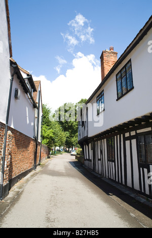 The old houses in Church Place Writtle - Stock Photo