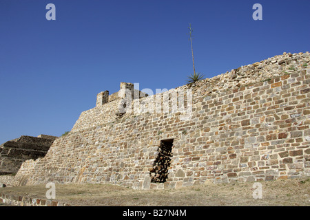 Building L or Dancers Building, Monte Alban, Oaxaca, Mexico - Stock Photo