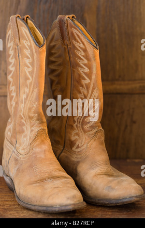 Close up of cowboy boots - Stock Photo