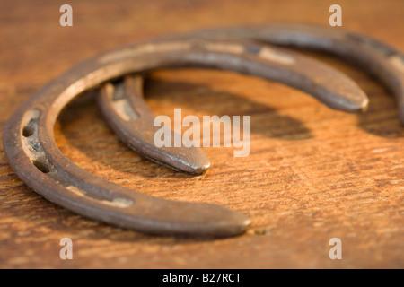 Close up of horseshoes - Stock Photo