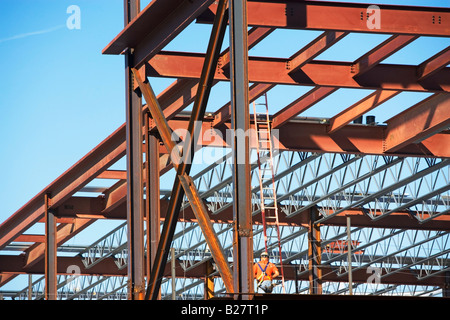 Commercial construction site, New York City, New York, United States - Stock Photo