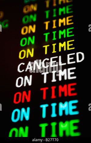 Close up of transportation time table - Stock Photo
