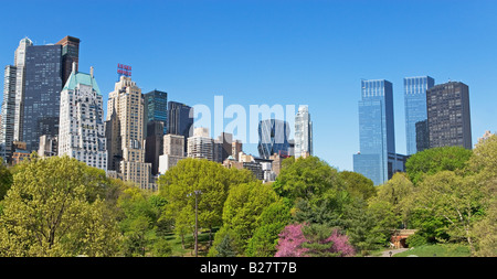 Buildings and trees, New York, United States - Stock Photo