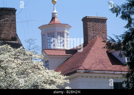 Rooftops of Mount Vernon George Washington home in Virginia. Photograph - Stock Photo