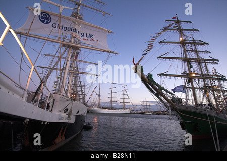Tall Ships Race 2008, Liverpool, UK - Stock Photo