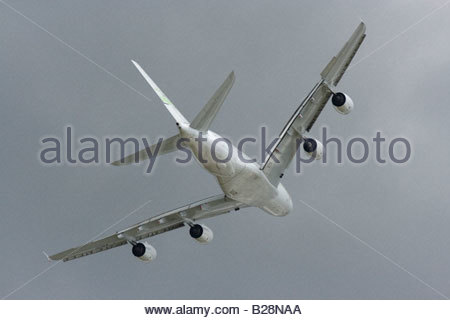 Airbus A380 Farnborough 2008  Commercial Airliner - Stock Photo