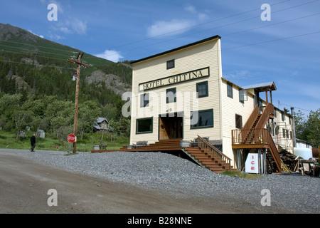 Hotel Chitina, Chitina, Alaska. - Stock Photo