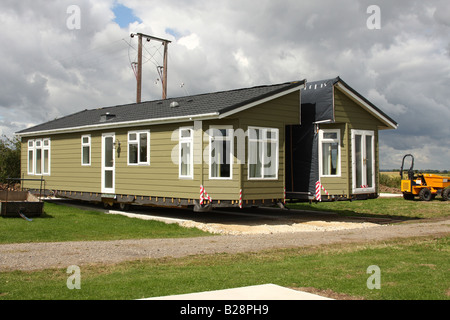 Double unit static caravan