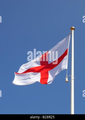 Saint George's Cross Flag, Cross of St George, National flag of England, United Kingdom - Stock Photo