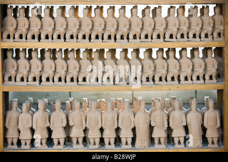 Terracotta Warrior souvenirs being made in factory Xian China - Stock Photo