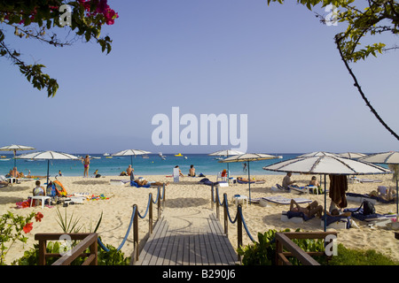 Beach Santa Maria Island of Sal Cape Verde Islands - Stock Photo