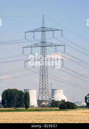 Nuclear power plant Biblis of the RWE AG - Stock Photo