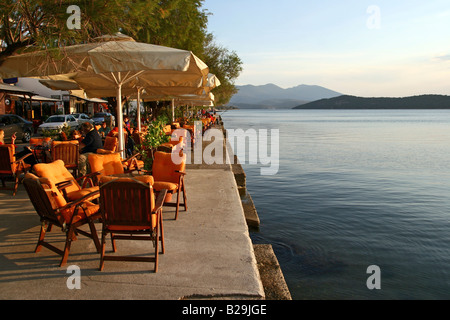 Greece Thessaly Agia Kiriaki a little fishing village at the south west point of the peninsula Pelion A water front - Stock Photo