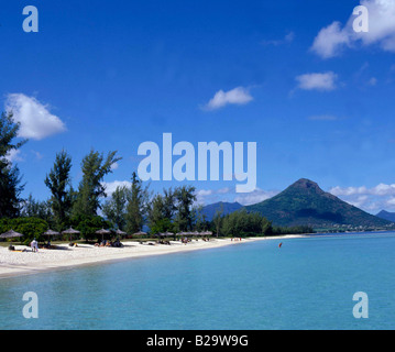 Hotel La Piroque Beach Mauritius Ref WP RSTMARH 3 COMPULSORY CREDIT World Pictures Photoshot - Stock Photo