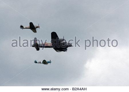 RAF Battle of Britain Memorial Flight Farnborough 2008 - Stock Photo