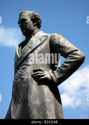 Robert Stephenson Statue Euston Station - Stock Photo