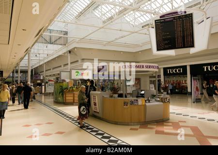 UK Tyne and Wear Sunderland Bridges Shopping Centre Information Desk - Stock Photo