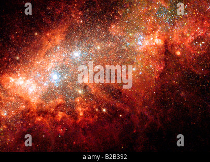 Galaxy photographed by NASA Hubble Space Telescope - Stock Photo