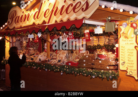 Christmas Market Lille France - Stock Photo