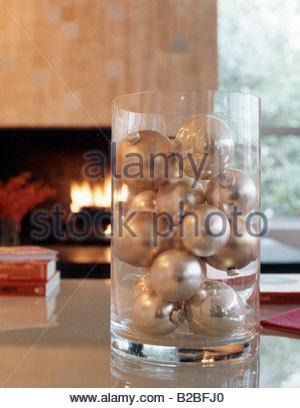 Ornaments In Glass Vase Stock Photo 3686246 Alamy