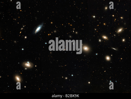 The Coma Cluster of galaxies. - Stock Photo