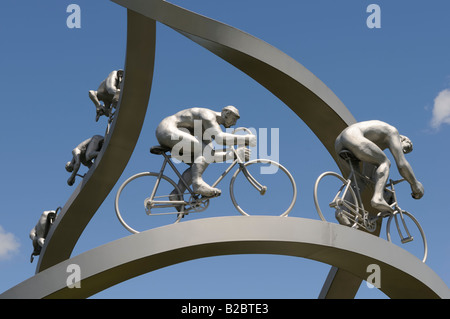 Tour de France, sculpture, France - Stock Photo