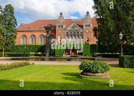 Garden of the Danish Royal Library, Copenhagen, Denmark, Scandinavia, Europe - Stock Photo