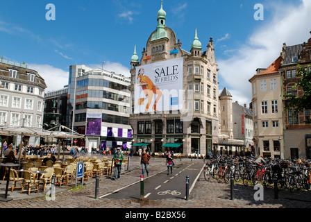 Amagertorv und Stroget, Copenhagen, Denmark, Scandinavia, Europe - Stock Photo
