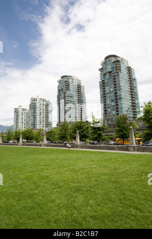 Apartment buildings in Yaletown, Vancouver, British Columbia, Canada, North America - Stock Photo