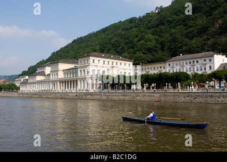 Spa house with casino, Bad Ems on the River Lahn, Rhineland-Palatinate, Germany, Europe - Stock Photo