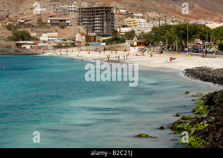 Laginha Beach, Mindelo, Sao Vicente Island, Cape Verde, Africa - Stock Photo