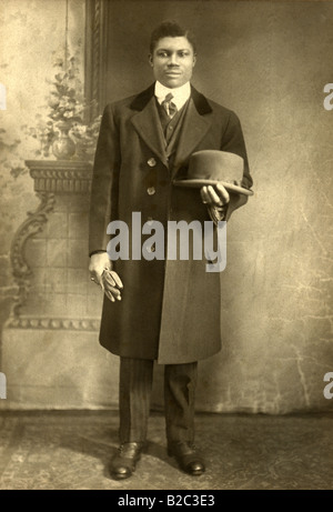 Circa 1890s studio photo of an affluent African American man. - Stock Photo