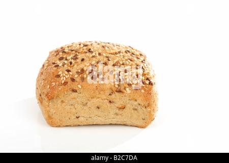 Organic wholegrain semi-cooked rolls - Stock Photo