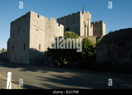 Castle Rushen Castletown Isle of Man in evening sunlight - Stock Photo