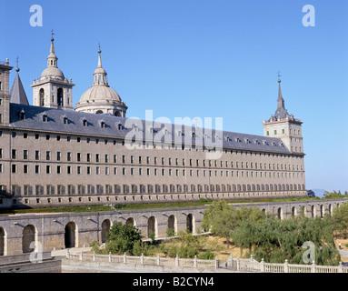 El Escorial Monastery Spain, Castilla y Leon - Stock Photo