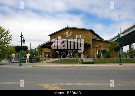 Ulu factory in Anchorage, Alaska. - Stock Photo