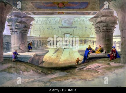 Temple of Edfu - Stock Photo